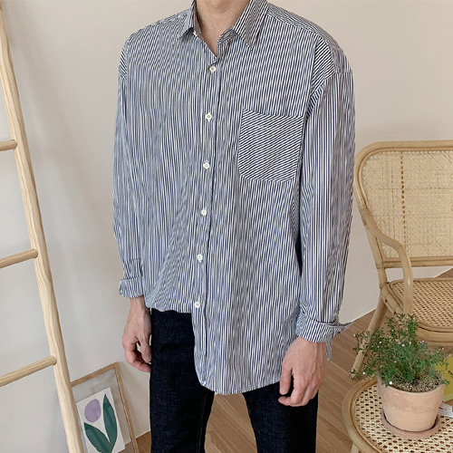After Stripe Shirts (2color)