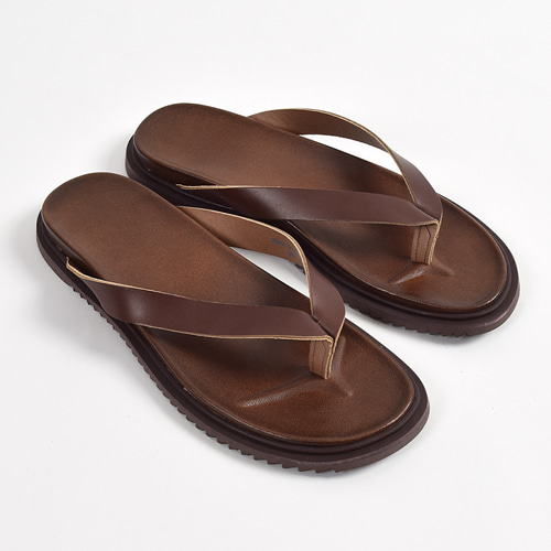 Leather Flip-flop (Brown)