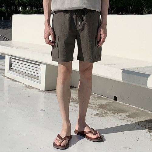 Linen Cargo Shorts (3color)