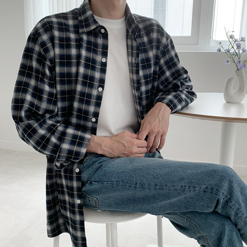 Daily Check Shirts (2color)