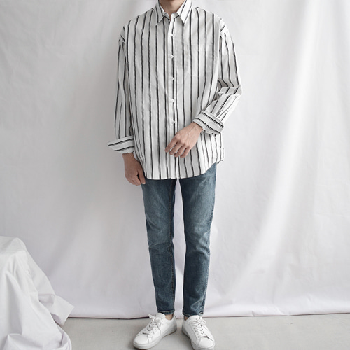 Pinch Stripe Shirts (2color)