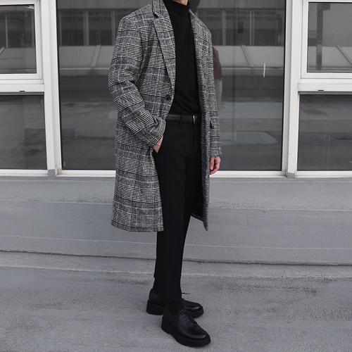 Wool Glen Check Coat