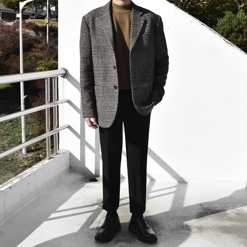 Hubert Check Jacket (Brown)