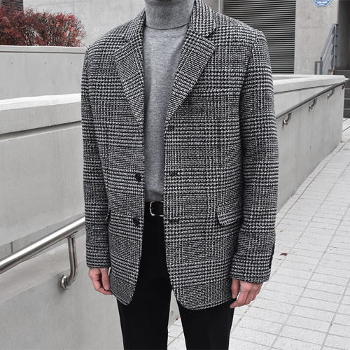 Hubert Check Jacket (Black)