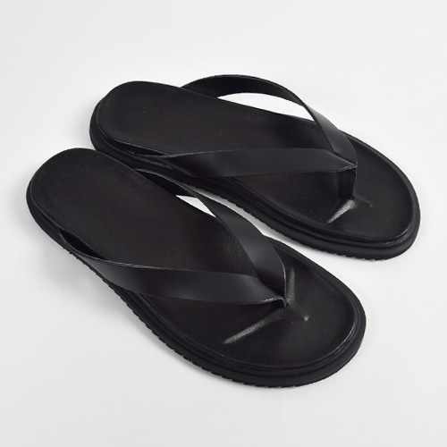 Leather Flip-flop (Black)