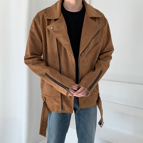 Suede Rider Jacket (2color)