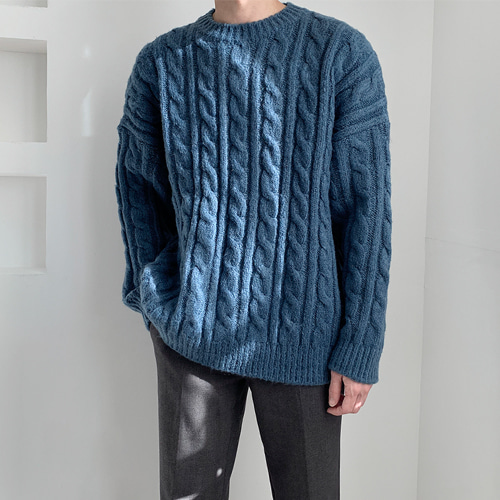 Wool Cable Knit (4color)