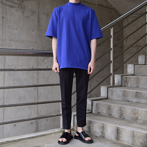 Halfneck T-Shirt (Blue,White)