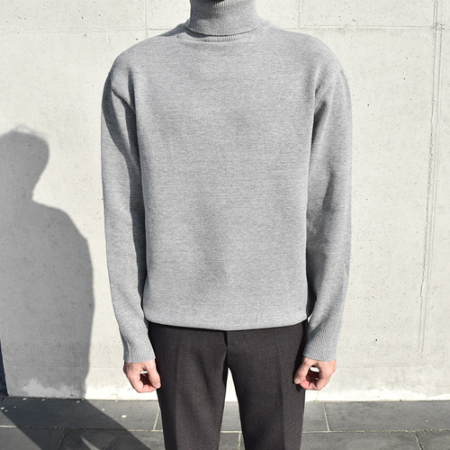 Cash Neck Knit (4color)