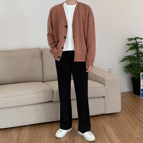 Plus Wool Cardigan (5color)