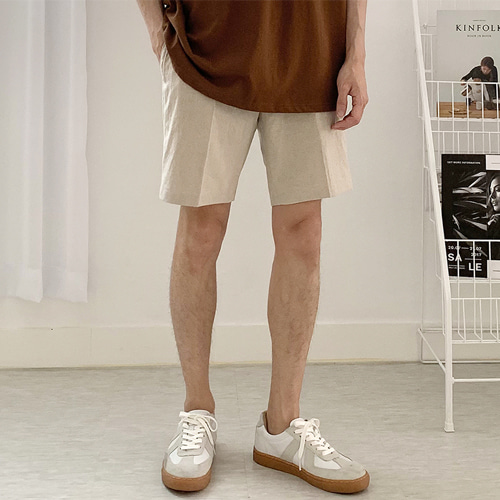 Blunt Linen Shorts (3color)