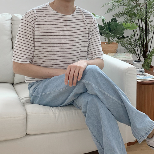 Leaf Stripe T-Shirt (3color)