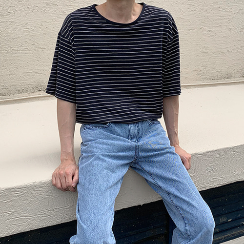 Linen Stripe T-Shirt (5color)