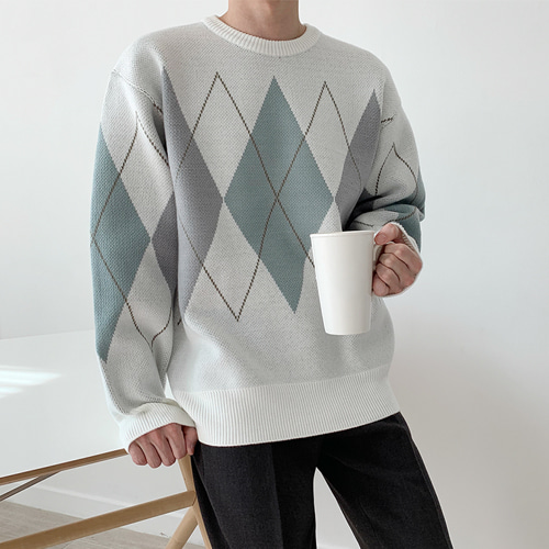 Prime Argyle Knit (2color)