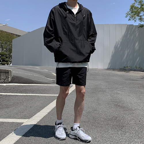 Light Hood Anorak (3color)